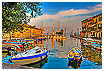 1923 - Lazise Harbor morning - -