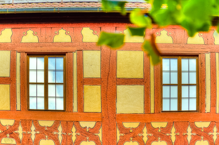 4988 - Kaiserpfalz windows & timber framing - -