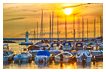 9353 - Gränna Harbor Sunset - -