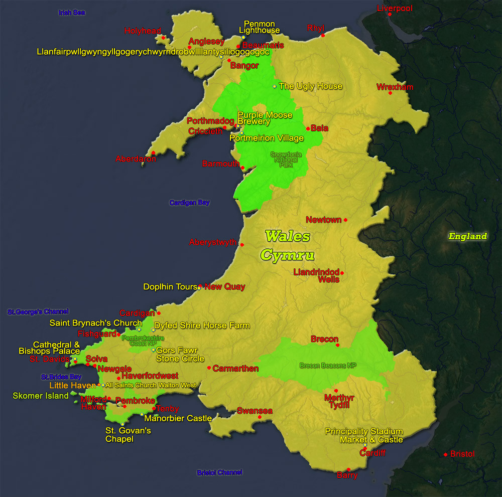 Wales Map - Visited